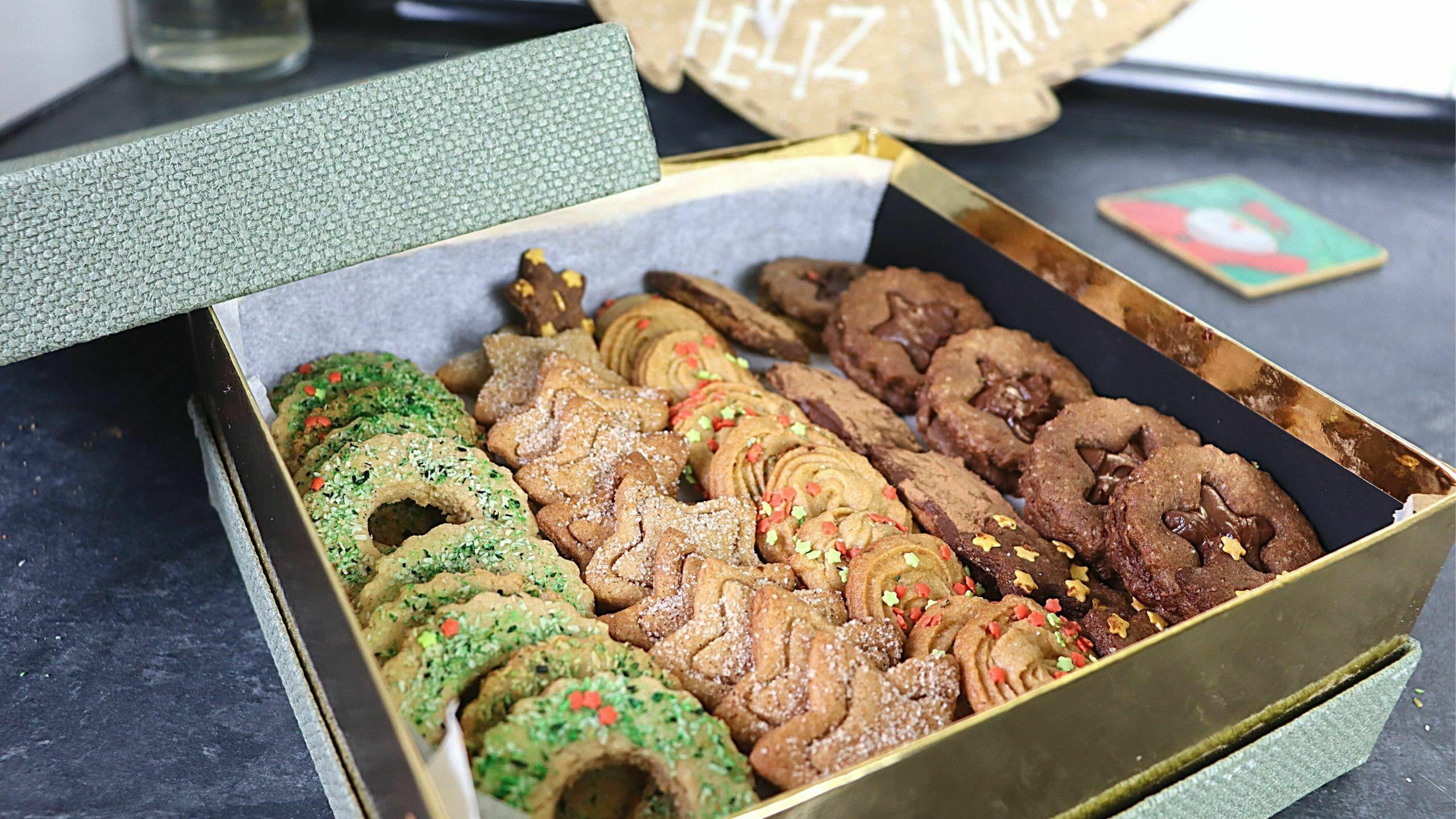 Caja de galletas sin gluten